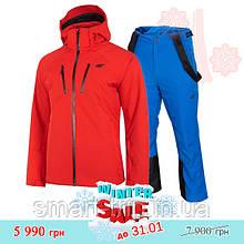 Мужской горнолыжный костюм 4F 2021 S красный синий (H4Z20-KUMN005-62S-set-S) winter