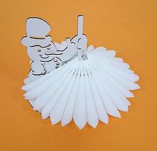 """Підставка для серветок """"Сніговик"""" колір білий 213"""