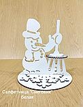 """Підставка для серветок """"Сніговик"""" колір білий 213, фото 2"""