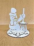 """Підставка для серветок """"Сніговик"""" колір білий 213, фото 3"""
