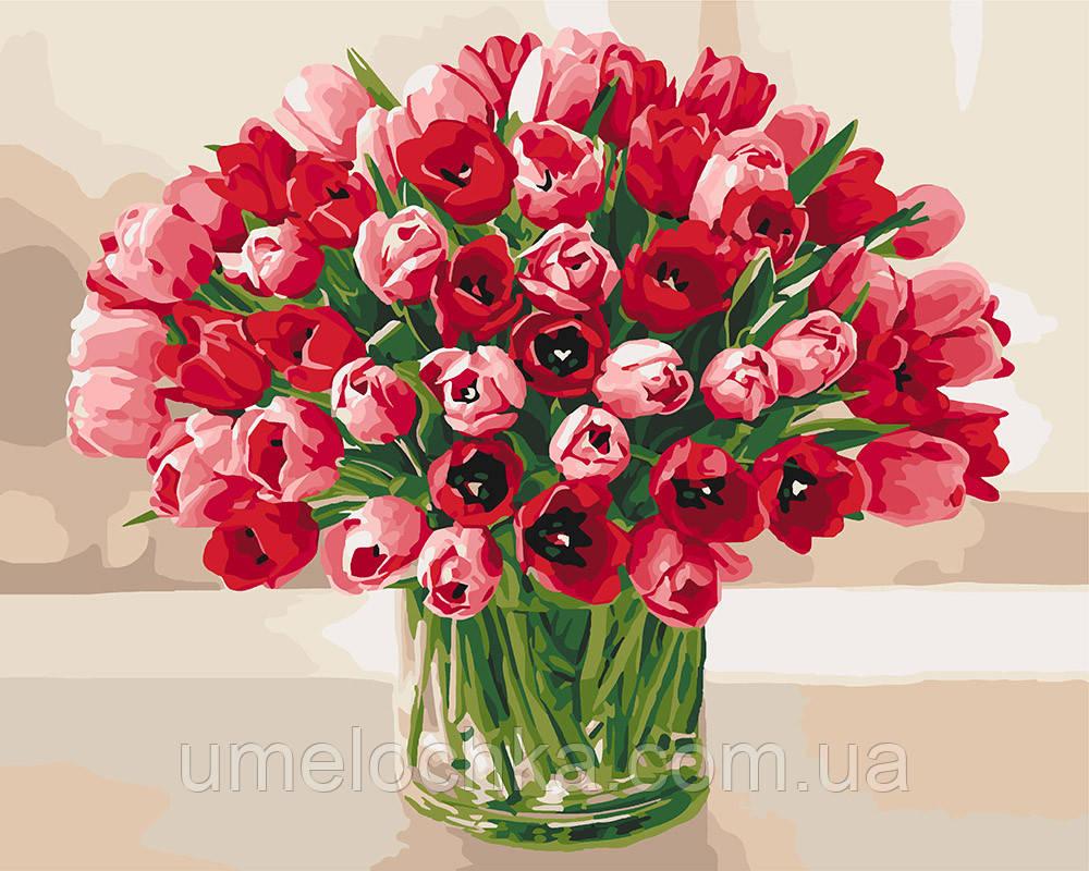 Картина по номерам Нежные тюльпаны (KH3058) 40 х 50 см Идейка