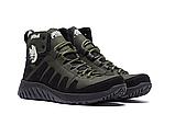 Ботинки зимние мужские кожаные Pitbull Olive (реплика), фото 2