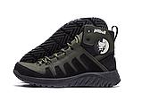 Ботинки зимние мужские кожаные Pitbull Olive (реплика), фото 6
