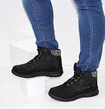 Женские низкие спортивные дутики черного цвета на шнурках, фото 2
