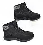 Женские низкие спортивные дутики черного цвета на шнурках, фото 4