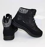 Женские низкие спортивные дутики черного цвета на шнурках, фото 6