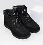 Женские низкие спортивные дутики черного цвета на шнурках, фото 7