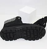 Женские низкие спортивные дутики черного цвета на шнурках, фото 8
