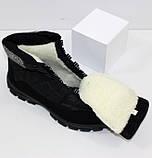Женские низкие спортивные дутики черного цвета на шнурках, фото 9