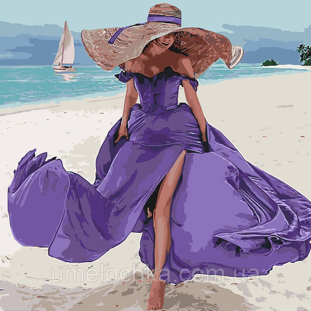 Раскраска для взрослых Пляжная романтика (KH4623) 40 х 40 см Идейка