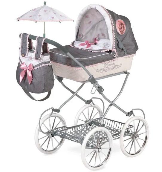 Коляска для куклы TM DeCuevas с сумкой и зонтиком