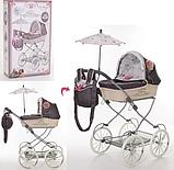 Коляска для куклы TM DeCuevas с сумкой и зонтиком, фото 2