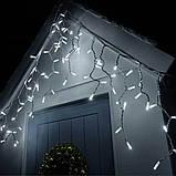 Гирлянда новогодняя уличная Xmas Сосульки-Бахрома 10 х 1.5 м (WW-2) Теплый белый, фото 2