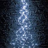 Гирлянда новогодняя на медной проволоке Xmas Конский хвост 2 метра синий, фото 2
