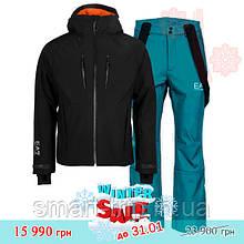 Мужской горнолыжный костюм EA7 Emporio Armani 2020 M черный зеленый 6gpg05-6gpp04-pnq8z-M winter