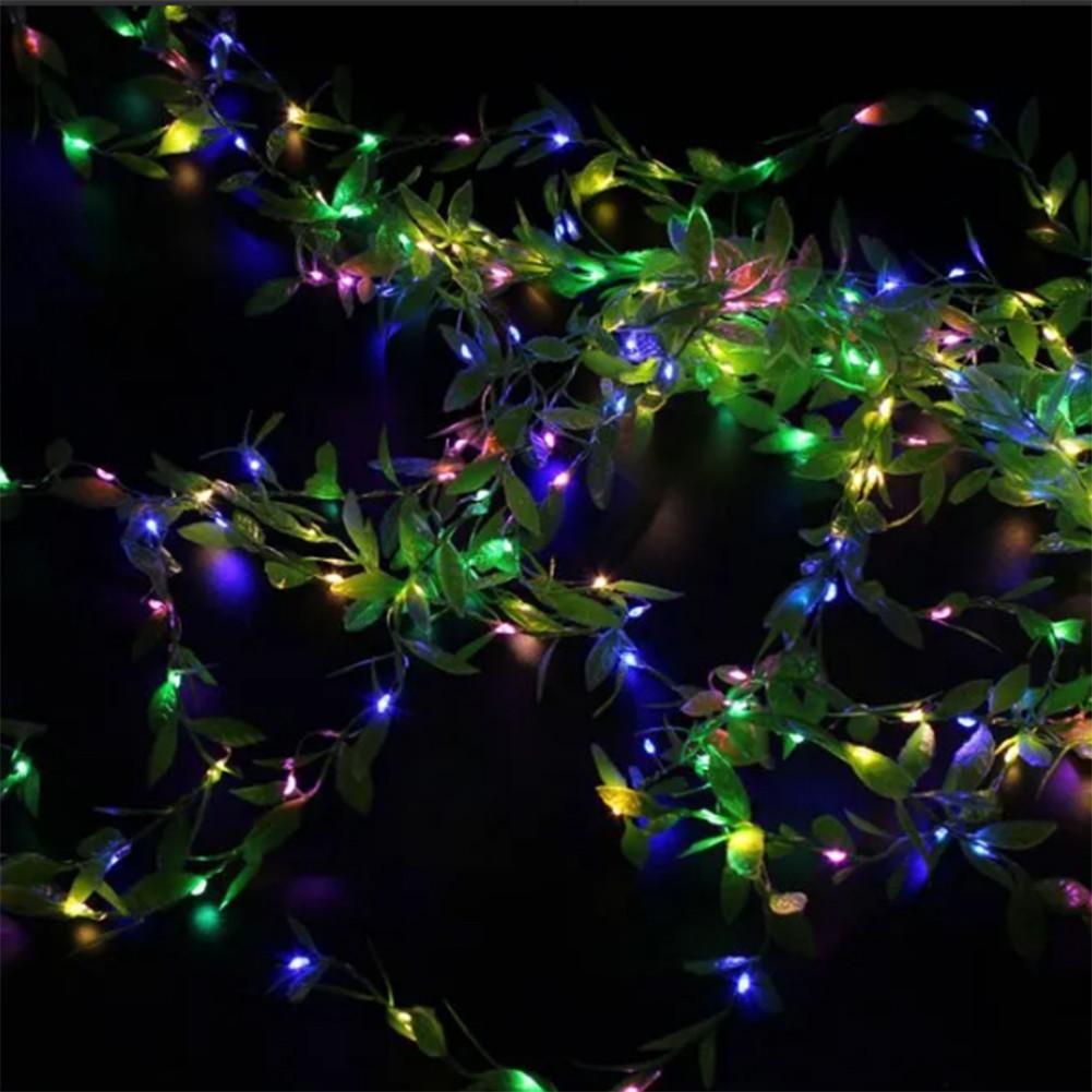 Гирлянда новогодняя Xmas Листья Ивы 3 х 1 метра мультиколор