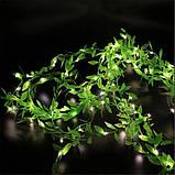 Гирлянда новогодняя Xmas Листья Ивы 3 х 1 метра мультиколор, фото 2