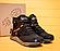 Кожаные зимние мужские ботинки в стиле MERRELL Black черные на шнурках, фото 4