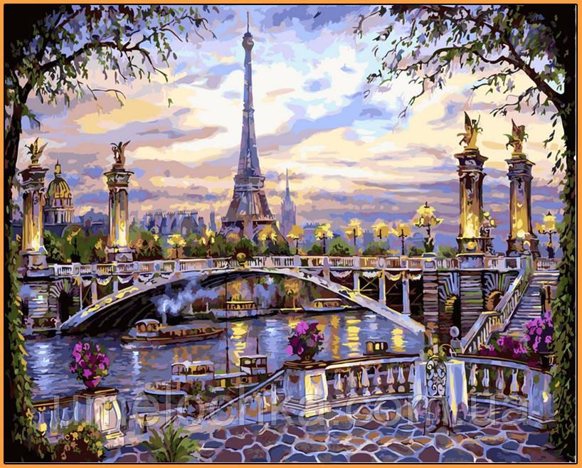 Картина по номерам Babylon Воспоминания о Париже (NB397R) 40 х 50 см