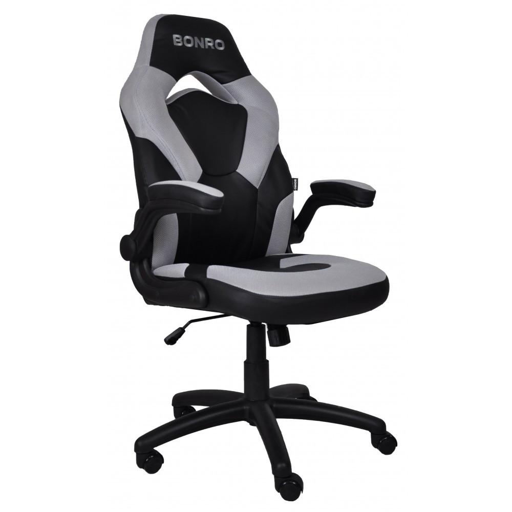 Кресло геймерское Bonro B-2064 серое