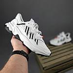 Рефлективные женские кроссовки Adidas Ozweego TR (бело-черные) спортивные весенние кроссы 20259, фото 3