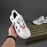 Рефлективные женские кроссовки Adidas Ozweego TR (бело-черные) спортивные весенние кроссы 20259, фото 2