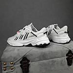 Рефлективные женские кроссовки Adidas Ozweego TR (бело-черные) спортивные весенние кроссы 20259, фото 5
