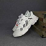 Рефлективные женские кроссовки Adidas Ozweego TR (бело-черные) спортивные весенние кроссы 20259, фото 8