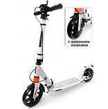 Самокат Urban Scooter с дисковым тормозом на широком колесе чёрный, фото 2