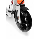 Самокат Urban Scooter с дисковым тормозом на широком колесе чёрный, фото 5