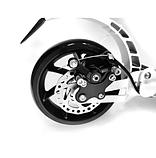 Самокат Urban Scooter с дисковым тормозом на широком колесе чёрный, фото 6