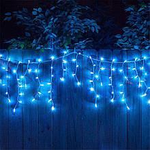Гирлянда новогодняя уличная Xmas Штора 8 х 1.5 м Синяя