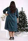 Зелене оригінальне плаття з урочисте имтацией накидки батал 42-74. 01686-2, фото 4