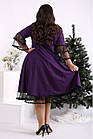 Фіолетове вільний ошатне плаття вільного покрою батал 42-74. 01684-2, фото 4