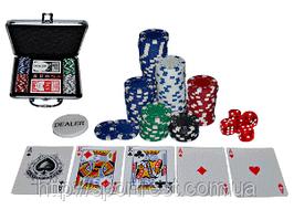Набор для игры в покер 100 фишек с номиналом в металлическом кейсе. БЕЗ КОРОБКИ!