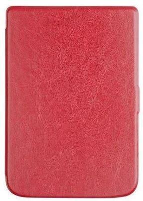 Обложка чехол  для PocketBook 632 Touch HD 3 автосон красный