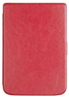 Обложка чехол  для PocketBook 632 Touch HD 3 автосон красный, фото 2