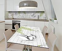 Наклейка 3Д виниловая на стол Zatarga «Бабочки Пышные крылья» 600х1200 мм для домов, квартир, столов, , фото 1