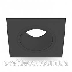 Встраиваемый светильник Feron DL0380 GU5.3 MR-16 точечный поворотный черный квадрат
