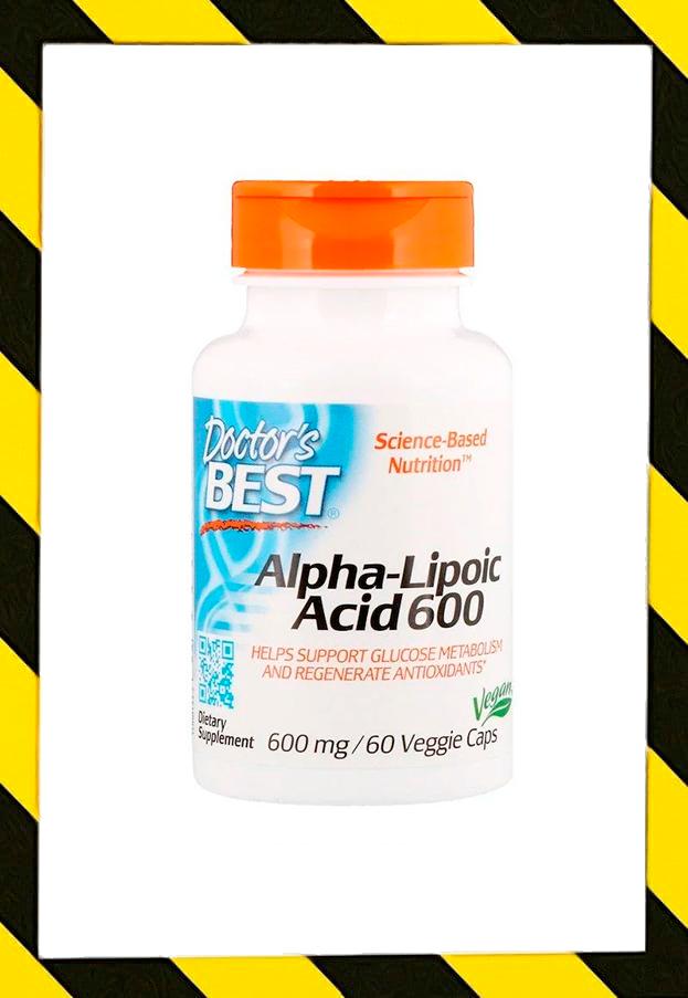 Doctor's Best, Альфа-липоевая кислота, Alpha lipoic acid, 600 мг, 60 раст капсул
