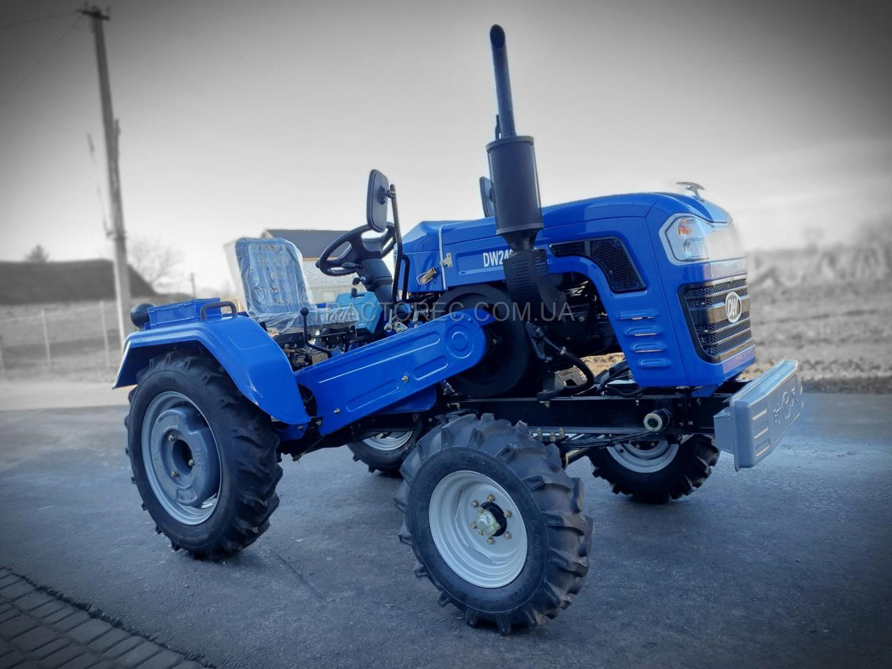 Трактор DW240B мощностью 24 л.с, задним ВОМ, 3х точечная навеска, лучше минитрактора Shifeng 240B, шифенг