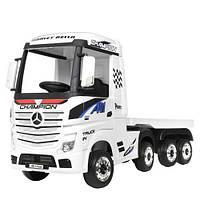 Електромобіль дитячий M 4208EBLR-1 (2) Вантажівка з причепом, білий, фото 1