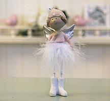 Декоративная статуэтка новогодняя игрушка Ангел h14см Гранд Презент 1016570-2 сердечный