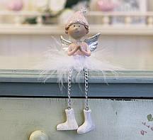 Декоративная новогодняя игрушка молящийся Ангел h7см Гранд Презент 1016569-1 молящийся