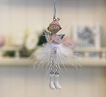 Декоративная подвеска молящийся Ангел h10см Гранд Презент 1016568-1 молящийся