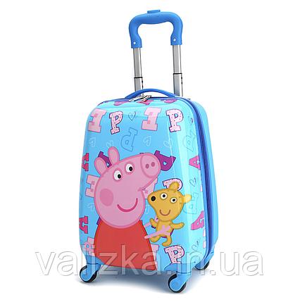 Чемодан пластиковый для мальчика Свинка Пеппа, фото 2
