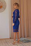 Нарядное платье приталенное из гипюра миди, разного цвета р.42 Код 176N, фото 2