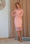 Нарядное платье приталенное из гипюра миди, разного цвета р.42 Код 176N, фото 3