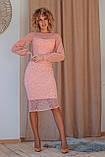 Нарядное платье приталенное из гипюра миди, разного цвета р.42 Код 176N, фото 4