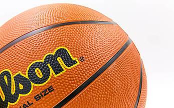 Баскетбольный мяч размер 7 резиновый Wilson BA-8091, фото 3